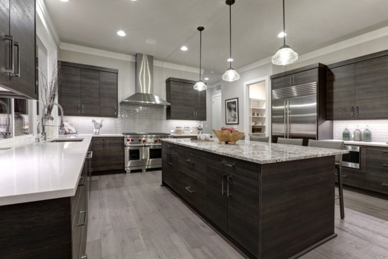 large kitchen interior
