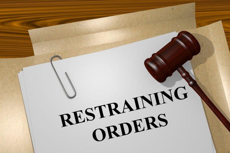 Restraining order concept