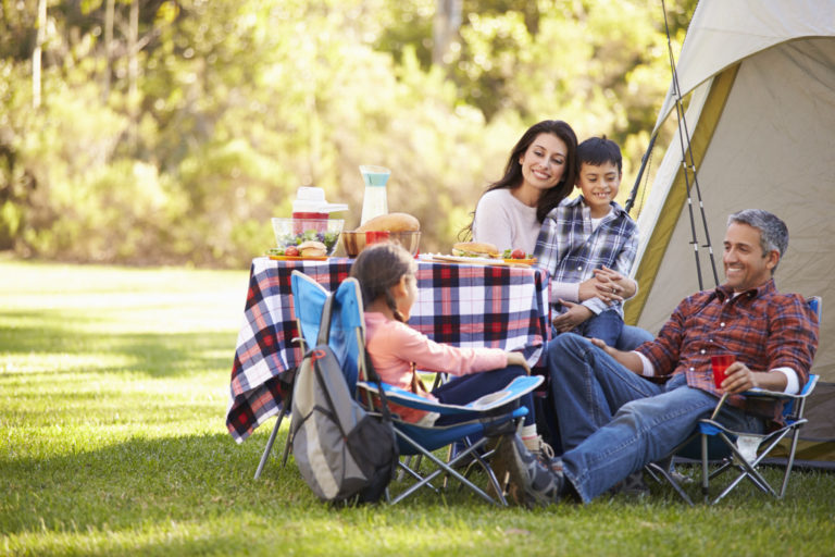 family fishing and camping trip