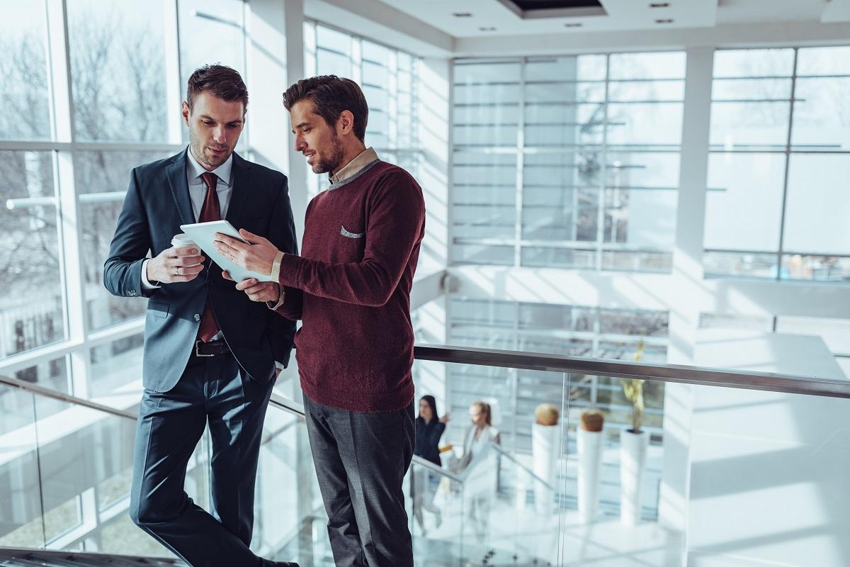 man talking to his mentor